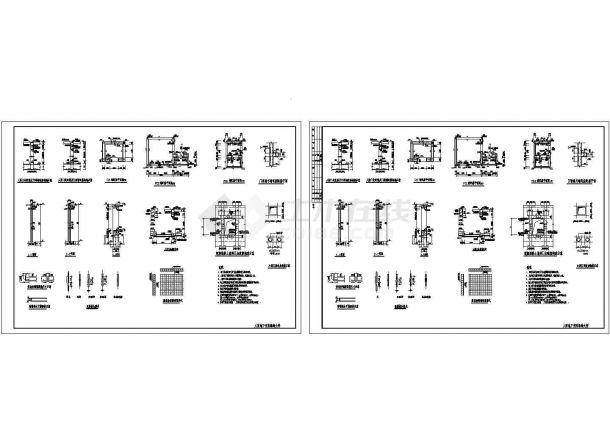 某人防地下室防爆墙工程建筑设计CAD参考图-图二