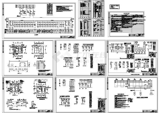 郑州某大学机械工厂变电所电气系统设计CAD施工图-图一