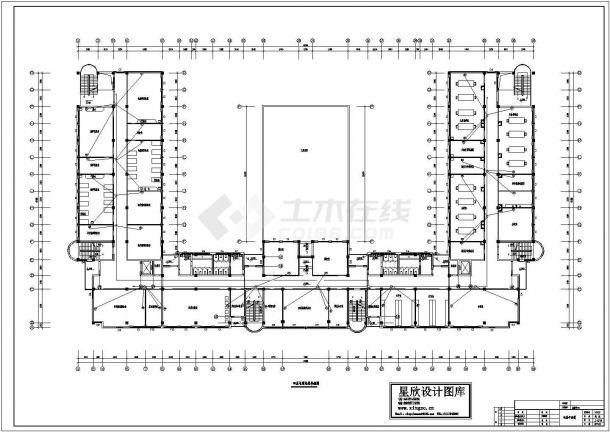广州某重点大学教学楼第四层电缆电视系统设计CAD图纸-图二