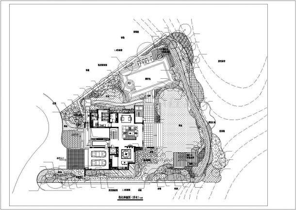 别墅景观绿化方案种植平面图-图一