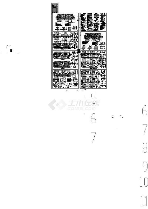 连云港多层砌体结构住宅cad施工图-图二
