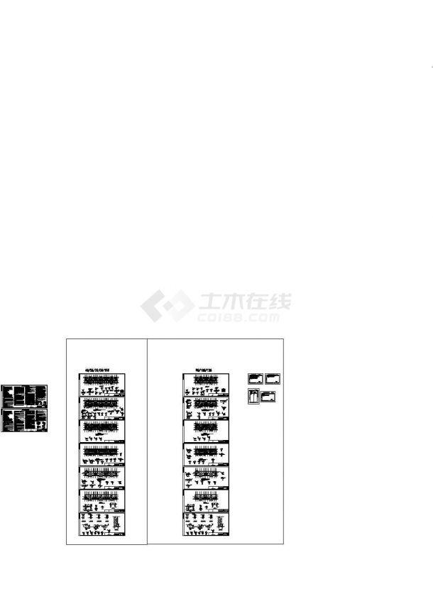 六层条形基础框架结构住宅楼cad结构施工图-图二