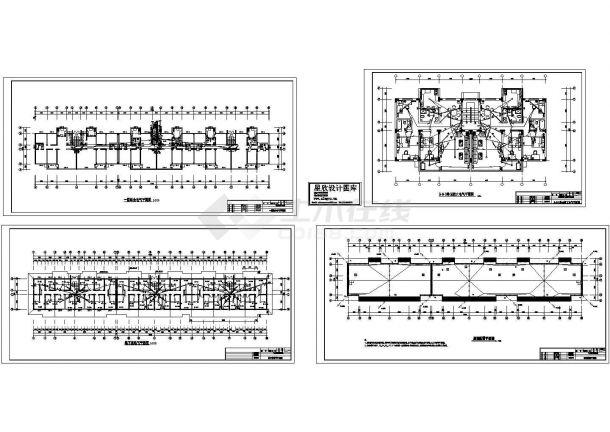 某经典住宅楼电气施工非常标准设计cad图纸-图一