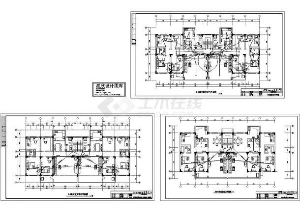 某经典住宅楼电气施工非常标准设计cad图纸-图二