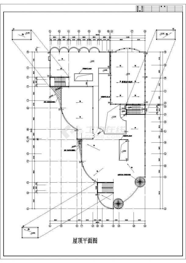某地三层砖混结构幼儿园建筑全套图纸-图一