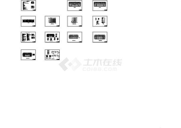 框架结构永达写字楼5400平米建筑设计全套施工图-图一
