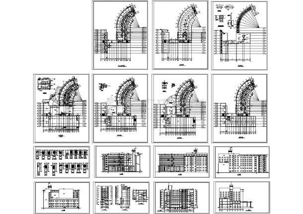 乌鲁木齐某8层高端大酒店建筑设计CAD施工图-图二
