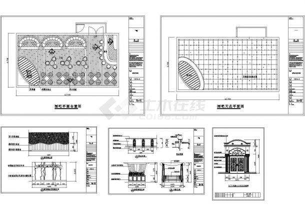 北京后海地区某知名酒吧装修设计CAD施工图-图二