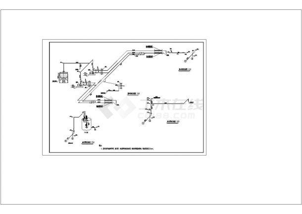 涿州市某城市污水处理厂工艺部分全套cad图纸设计-图一
