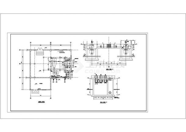 涿州市某城市污水处理厂工艺部分全套cad图纸设计-图二
