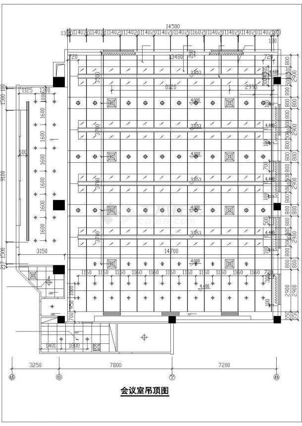 马鞍山市某商业街商务大酒店全套装修施工设计CAD图纸-图一