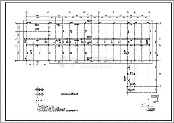 【苏州】某4层坡面住宅全套建筑cad框架结构设计图(含结构设计总说明)-图二