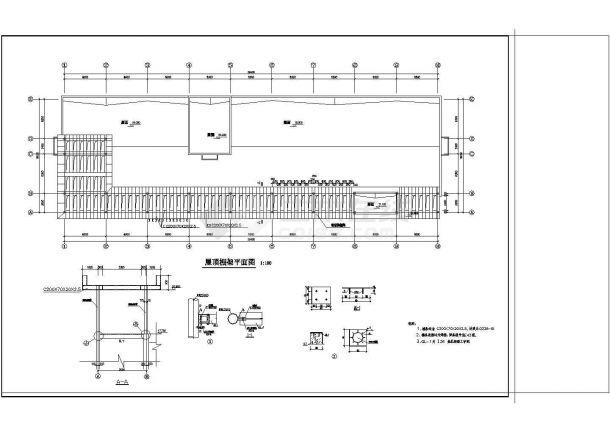 办公楼设计_五层办公楼钢筋砼框架结构设计cad施工图纸-图一