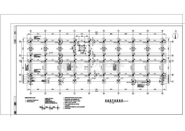 办公楼设计_五层办公楼钢筋砼框架结构设计cad施工图纸-图二