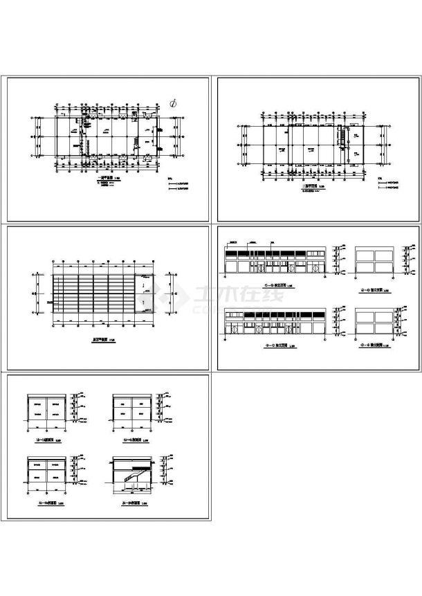 动力车间建筑施工图Cad设计图-图一