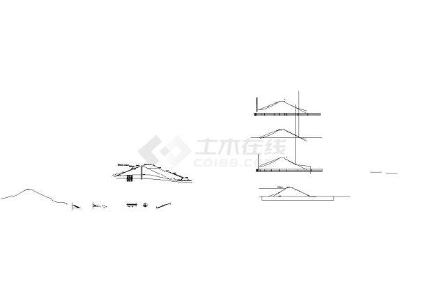 汉中地区某水库除险加固工程建筑设计CAD施工图-图二