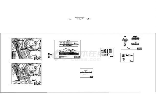 广州某水库堤防维修加固工程建筑设计CAD施工图-图一