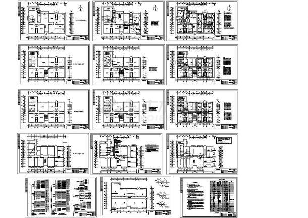 办公楼设计_青岛某幼儿园3层砖混结构办公楼电气系统设计CAD施工图-图一