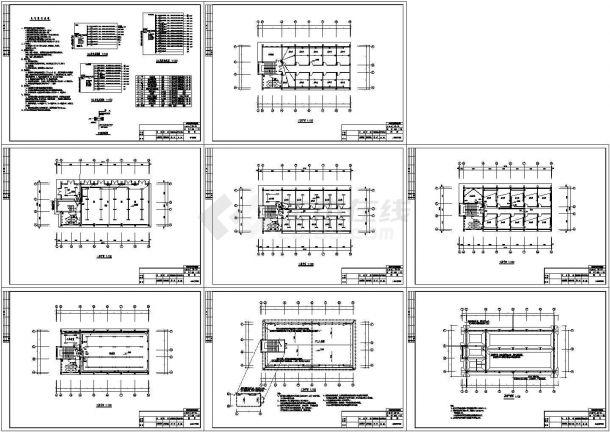 小型办公室电气设计图纸-图一
