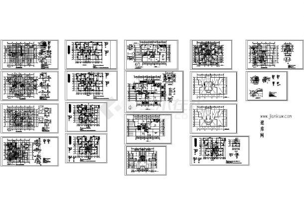 某19层框架结构住宅楼结构设计cad全套施工工程图纸(甲级院设计,18张图)-图二