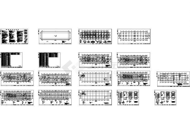 四层框架结构宿办楼结构施工设计图纸-图一