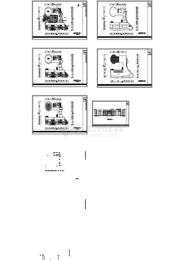 某四层幼儿园砖混结构教学楼设计cad建筑方案图(甲级院设计)-图二