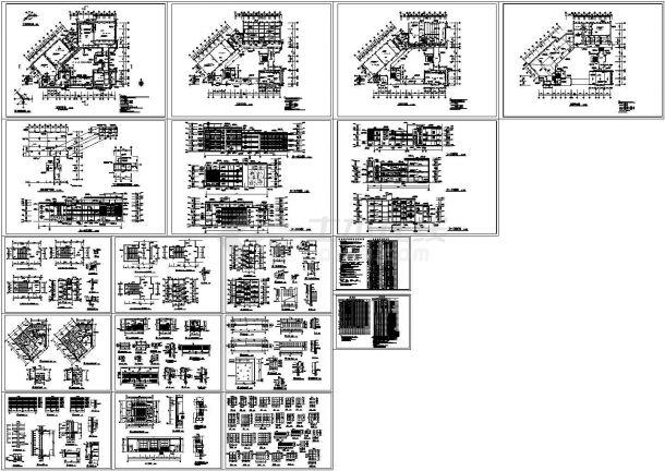 某小学四层框架结构艺术楼(建筑面积5525平米)设计cad全套建筑施工图(含设计说明)-图一