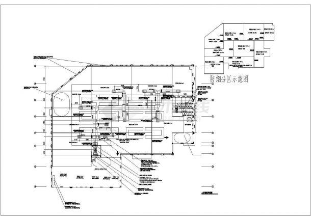 1.4万平米2层框架结构农贸市场暖通设计CAD图纸(含地下2层)-图一