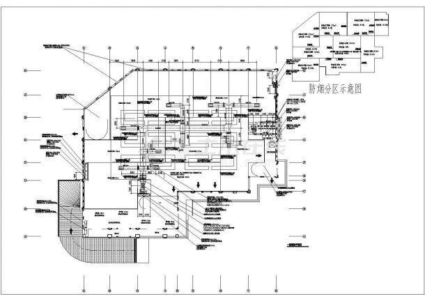 1.4万平米2层框架结构农贸市场暖通设计CAD图纸(含地下2层)-图二