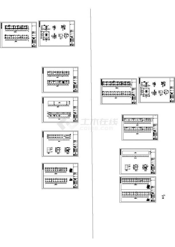 办公楼设计_河南某多层办公楼结构cad设计图-图一
