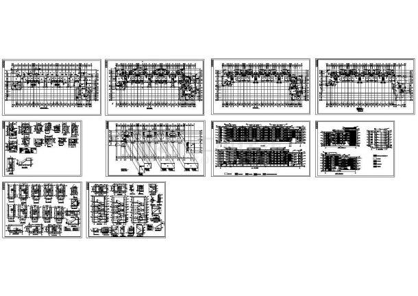 某小区五层砖混结构住宅楼建筑设计cad全套施工图(含总平面)-图一