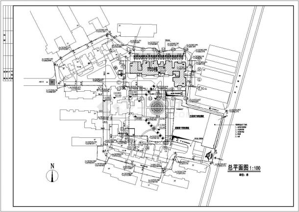 某小区五层砖混结构住宅楼建筑设计cad全套施工图(含总平面)-图二