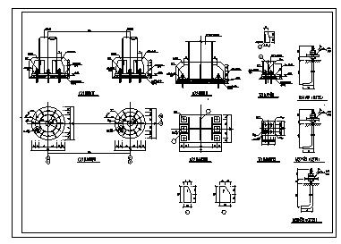 柱脚节点设计_通用的钢框架柱脚节点构造大样设计cad图纸-图一