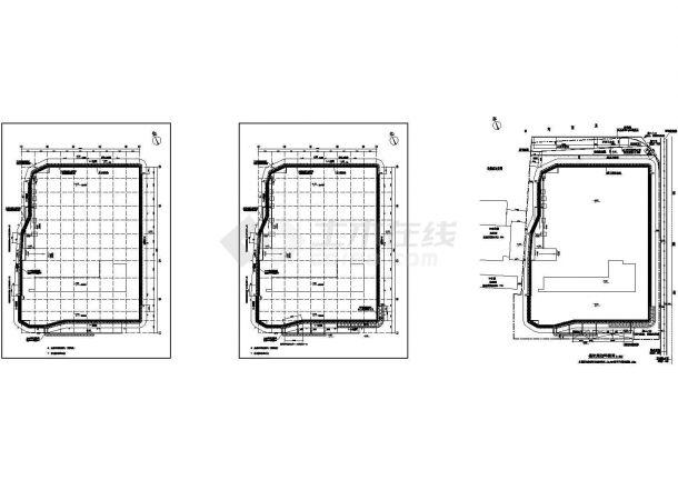 [浙江]办公大厦地下车库深基坑设计施工图纸(CAD)-图二