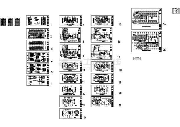 某高层框架结构住宅楼强弱电设计cad全套施工图(含设计说明)-图一