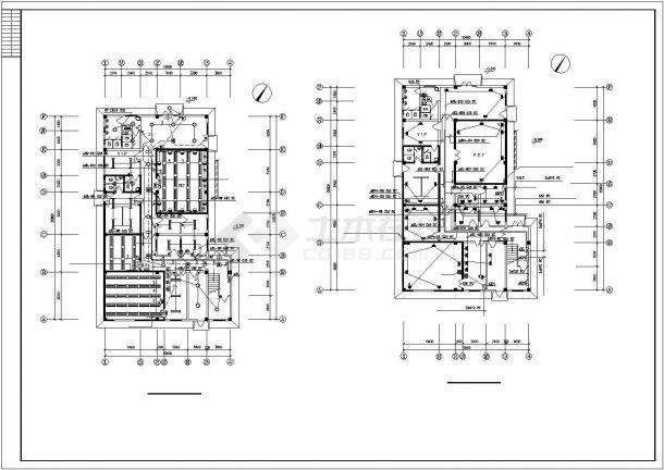 上海某眼科医院2层影像中心电气施工设计CAD图纸-图一