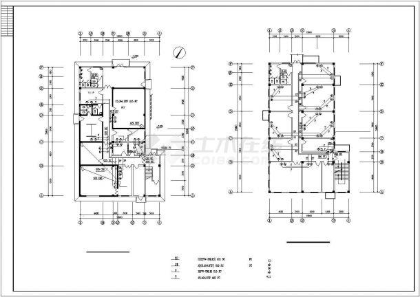 上海某眼科医院2层影像中心电气施工设计CAD图纸-图二