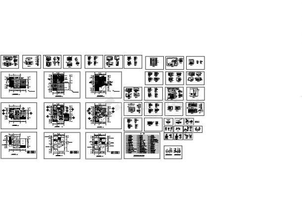 某小区别墅样板间竣工图(CAD,56张图纸)-图二