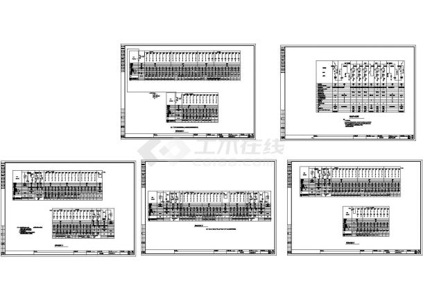 某医院综合楼低压配电系统图高压供电系统cad图-图一