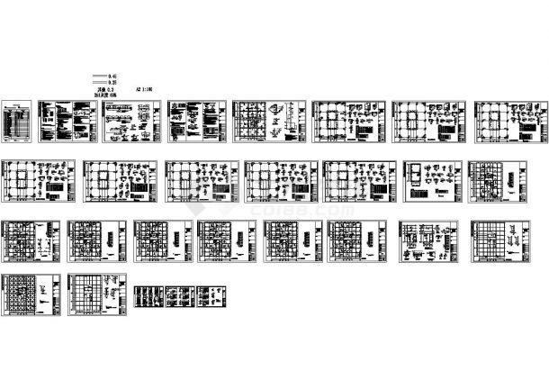 12层框剪商务办公楼结构cad施工图-图二