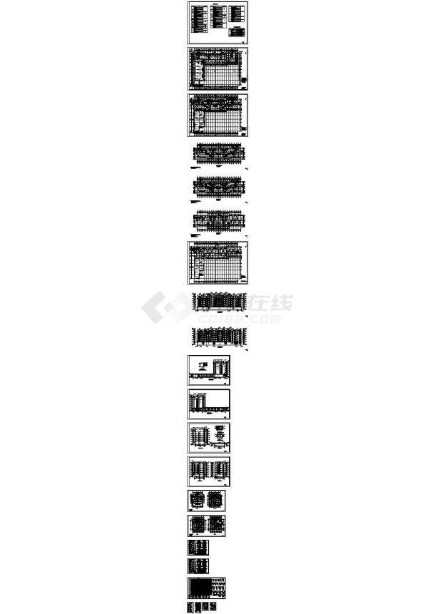 某六层异形柱框架结构CAD施工图-图二