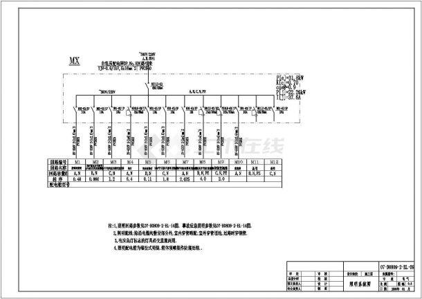 南方某35KV总降压站电气设计图纸-图一