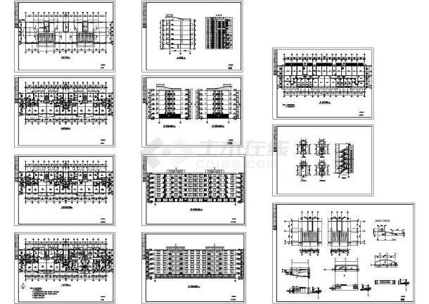 某多层框剪结构住宅楼建筑设计cad全套施工图(标注详细,11张图)-图二