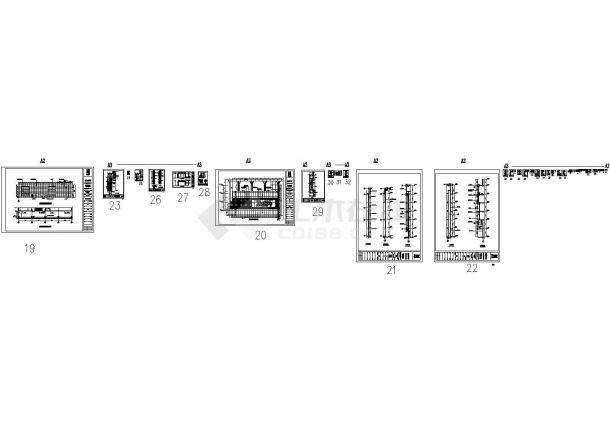 某一线城市沃尔玛广场幕墙工程设计cad全套施工图纸(甲级院设计)-图一