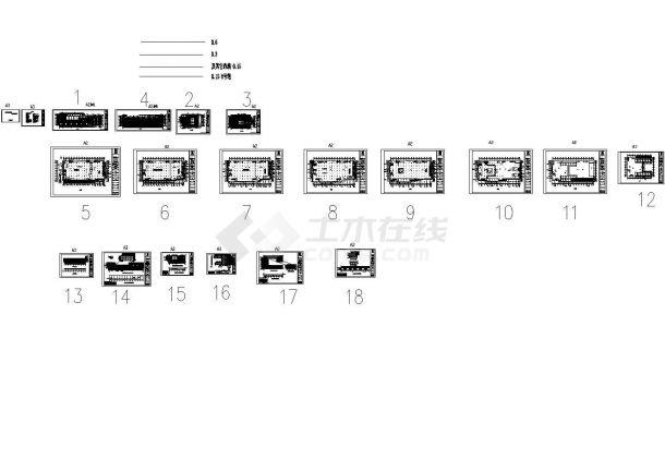 某一线城市沃尔玛广场幕墙工程设计cad全套施工图纸(甲级院设计)-图二