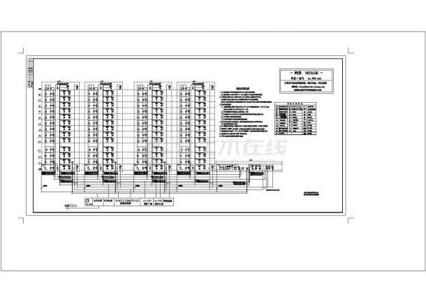 小高层及小区地下室火灾报警系统cad图纸设计-图一