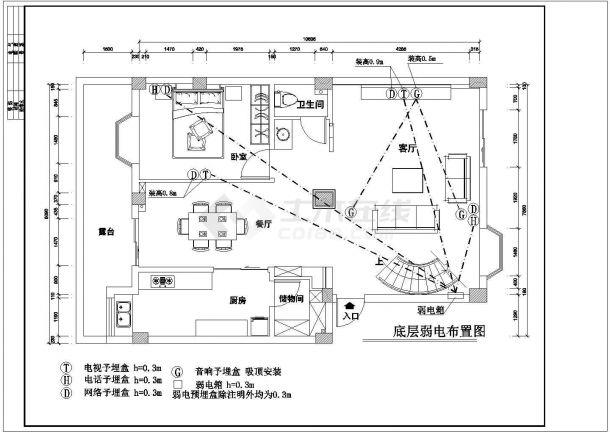 复式楼家居室内装修设计施工图-图一
