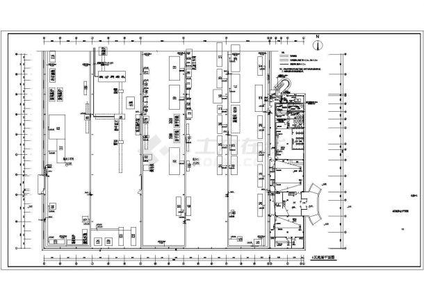 机械厂房全套电气图纸CAD-图一