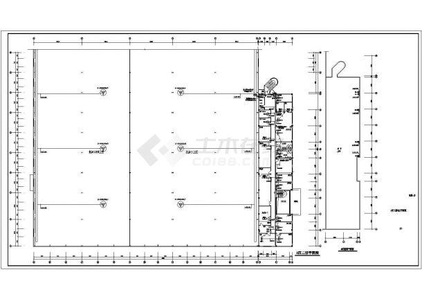 机械厂房全套电气图纸CAD-图二