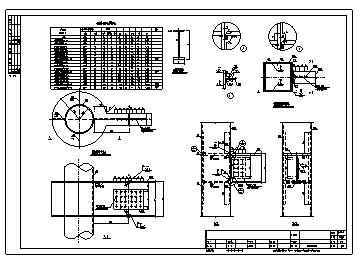 某钢框架钢梁与钢柱连接节点构造大样设计cad图纸-图一